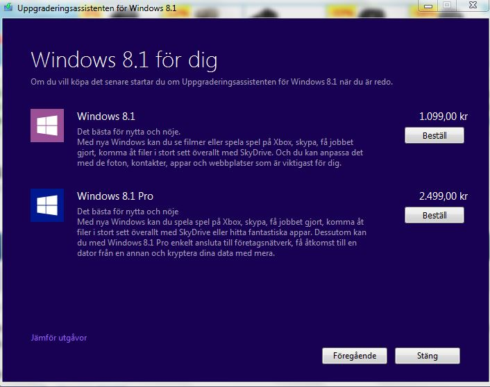 Windows 8.1 - Uppgraderingsassistenten
